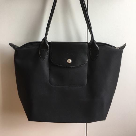 9710ba24e53 Longchamp Handbags - Longchamp Le Pliage Neo all black nylon tote